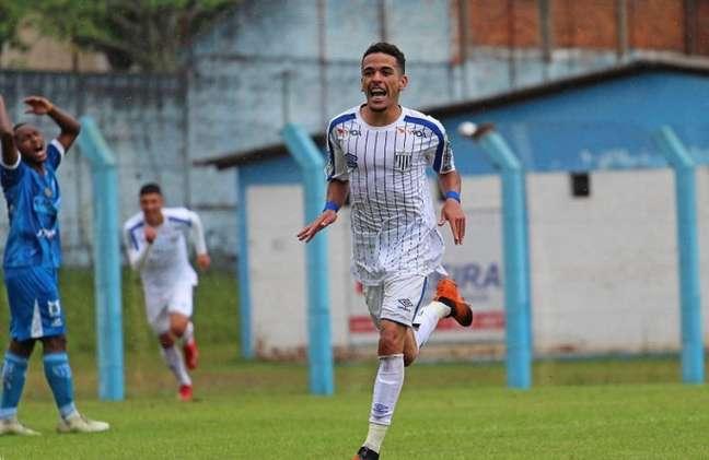 Thiaguinho em ação pela equipe sub-20 do Avaí (Foto: Divulgação)