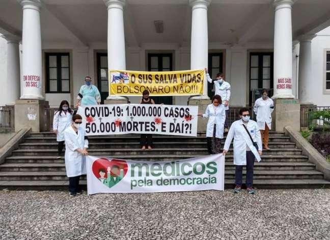 Em Salvador, profissionais da saúde fazem protesto neste domingo, 21