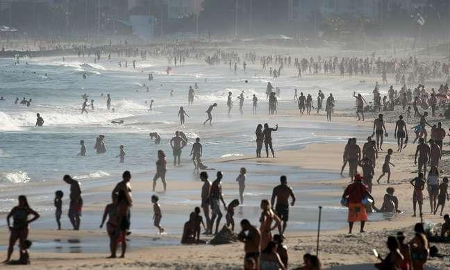 Praia de Ipanema, no Rio de Janeiro 21/06/2020 REUTERS/Ricardo Moraes