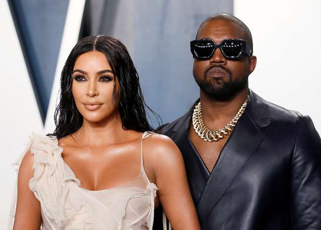 Kim Kardashian e Kanye West 09/02/2020 REUTERS/Danny Moloshok