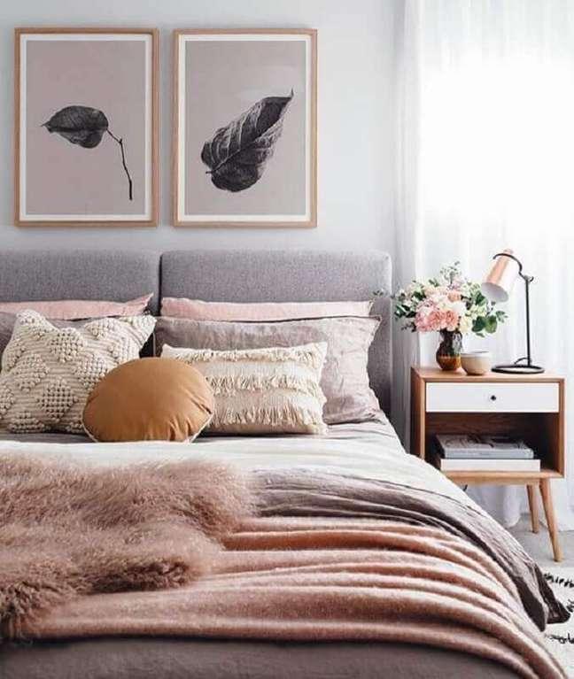 1. Saiba como escolher a cabeceira ideal para seu quarto de casal – Foto: Foto Sea Tribe
