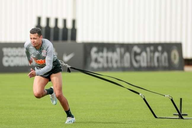 Sidcley voltou melhor fisicamente para os treinos da nova pré-temporada (Foto: Rodrigo Coca/Ag. Corinthians)