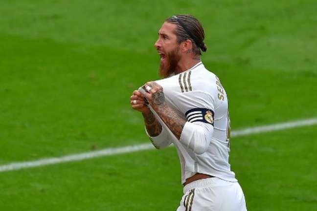 Sergio Ramos foi decisivo mais uma vez e garantiu vitória do Real Madrid (Ander GILLENEA / AFP)