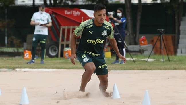 Gabriel Menino destaca importância de treino físico para maratona de jogos no ano (Agência Palmeiras/Divulgação)