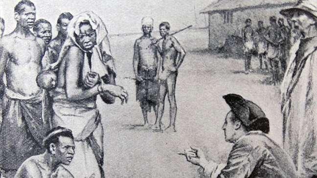 Comerciantes britânicos desempenhavam papel central no comércio de escravos, antes de a abolição da escravatura