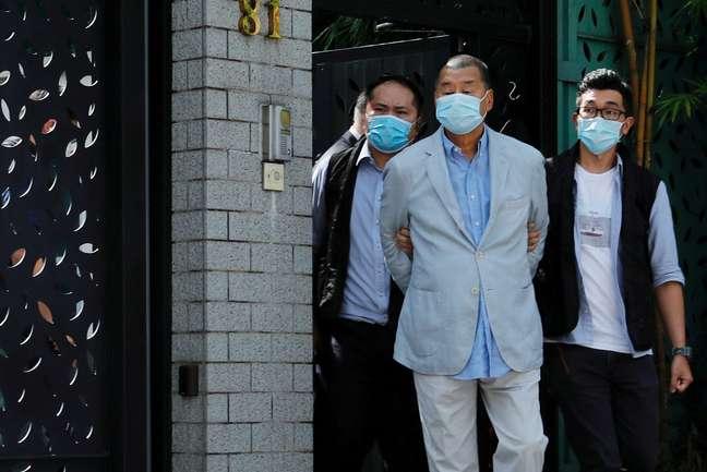 Magnata da mídia Jimmy Lai é preso em Hong Kong 10/08/2020 REUTERS/Tyrone Siu