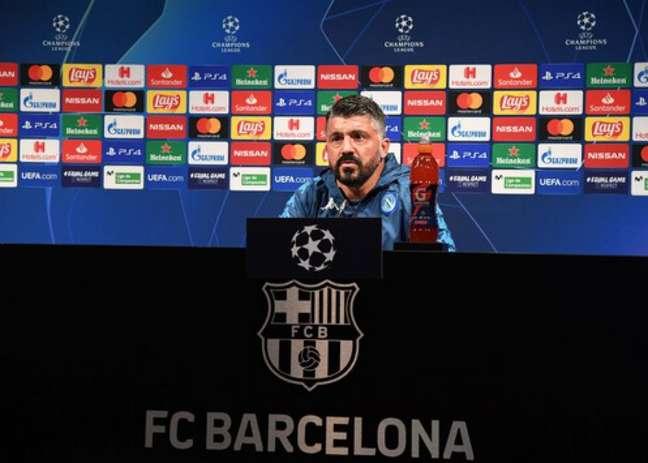 Napoli foi eliminado para o Barcelona na Liga dos Campeões (Foto: Divulgação / Napoli / Site oficial)
