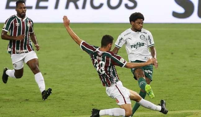 Luiz Adriano deixou sua marca novamente contra o Fluminense (Foto: Cesar Greco/Agência Palmeiras)