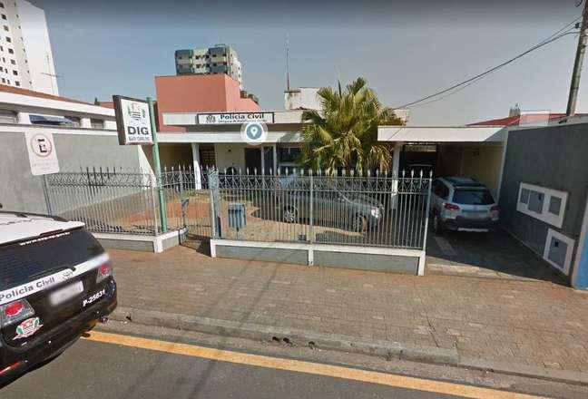 Faixada daDelegacia de Investigações Gerais de São Carlos.