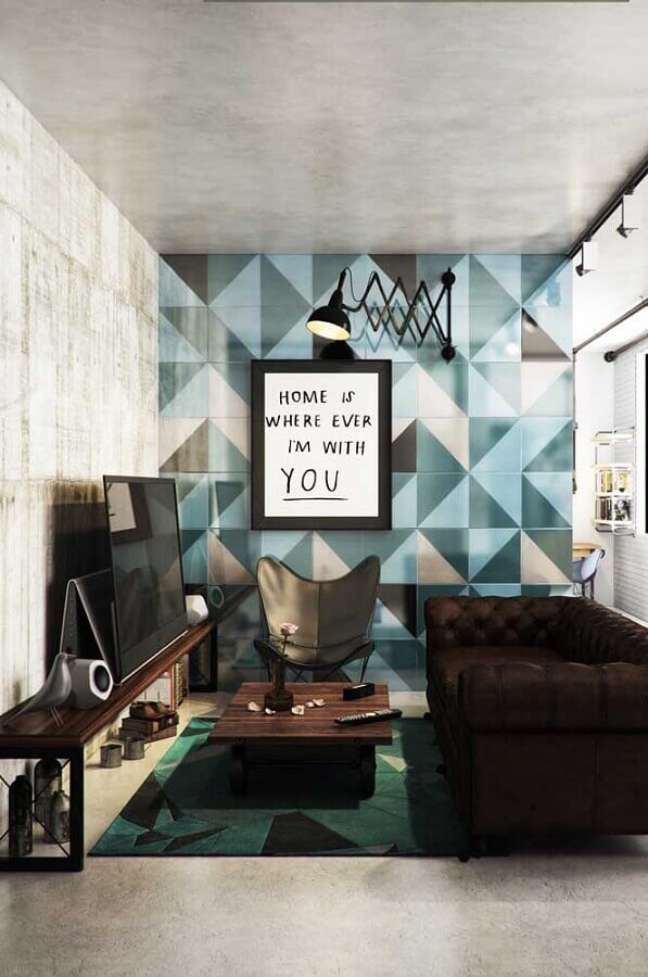 66. Poltrona decorativa preta para sala pequena moderna – Foto: Futurist Architecture