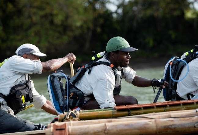 Coree Woltering, do team Onyx, o primeiro time afro-americano a participar do Eco-Challenge