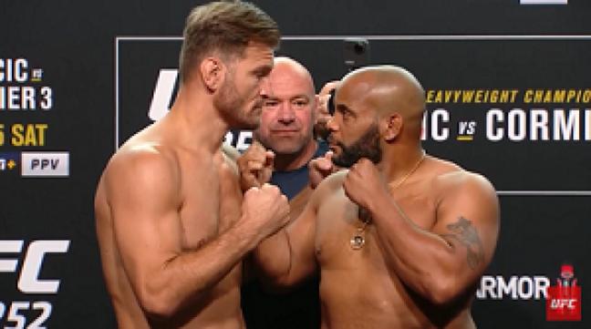 Stipe Miocic e Daniel Cormier se enfrentam pela terceira vez (Foto: Reprodução/YouTube/UFC)