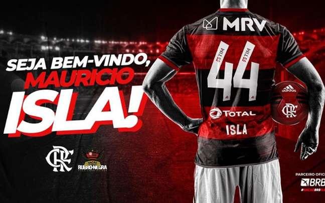 Flamengo anuncia contratação do lateral Mauricio Isla