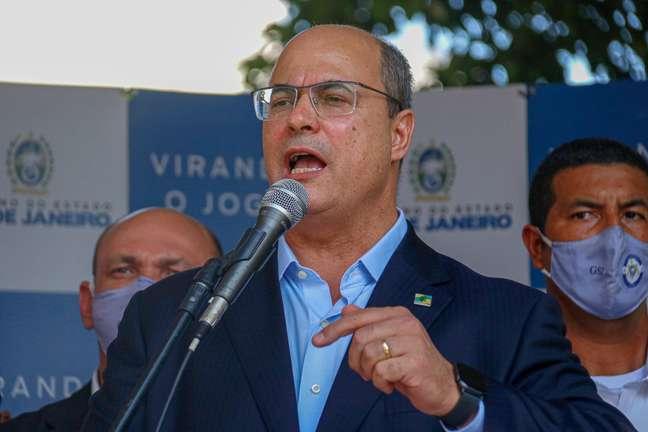 Wilson Witzel (PSC), governador do Rio de Janeiro, durante inauguração