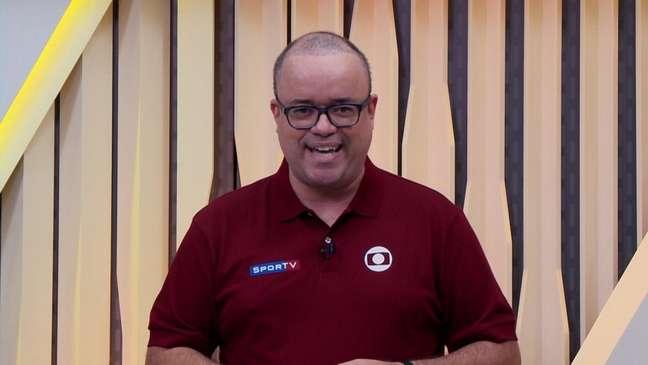 Everaldo se confundiu e trocou SporTV por ESPN durante transmissão da NBA (Foto: Reprodução)
