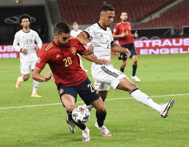 Alemanha e Espanha somam apenas um ponto na Liga das Nações (Foto: THOMAS KIENZLE / AFP)