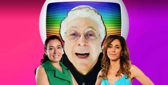 Aguinaldo Silva entre suas 'criaturas' Griselda e Tereza Cristina: audiência de Fina Estampa surpreendeu a cúpula da Globo