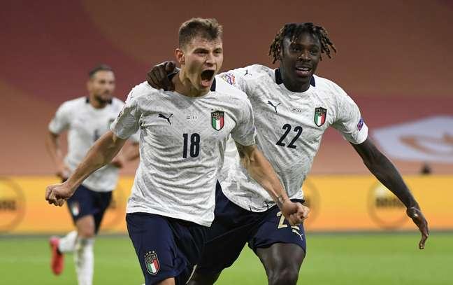Barella marcou o gol da vitória da Itália contra a Holanda