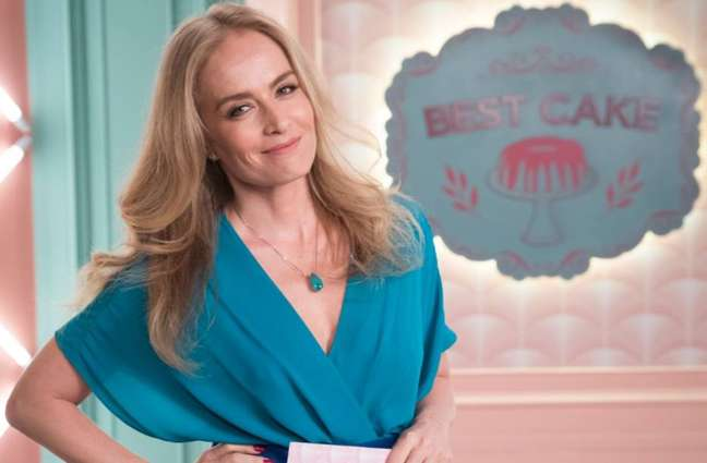 Angélica em participação à frente do reality show fictício 'Best Cake' na novela 'A Dona do Pedaço'