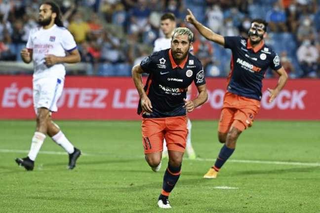 Savanier foi destaque da partida com dois gols para garantir vitória ao Montpellier (PASCAL GUYOT / AFP)