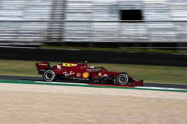 Charles Leclerc foi o oitavo colocado no GP da Toscana