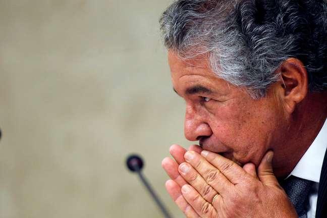 Ministro Marco Aurélio Mello durante sessão do STF 17/10/2019 REUTERS/Adriano Machado