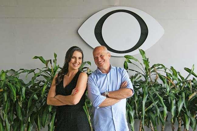 Glenda e Elia Júnior mostraram entrosamento na estreia do Show do Esporte