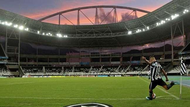 Desde o retorno do futebol, em julho, o público não esteve presente nos estádios (Foto: Vitor Silva/SSPress/Botafogo)