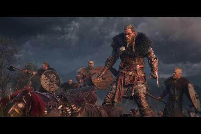 Em Assassin's Creed: Valhalla, você controlorá um líder viking em sua jornada para conquistar territórios na Inglaterra medieval.