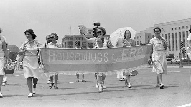 Luta pela igualdade de gênero nos Estados Unidos atraiu mulheres de diferentes grupos sociais