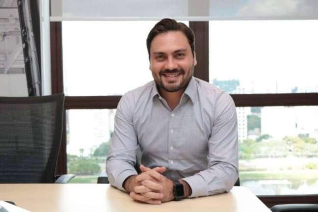 O pré-candidato do Novo à Prefeitura de SP, Filipe Sabará