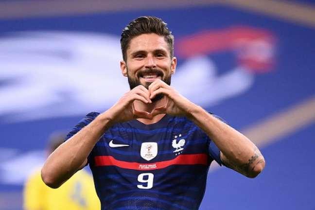 Olivier Giroud (Divulgação/Twitter da Federação Francesa de Futebol)