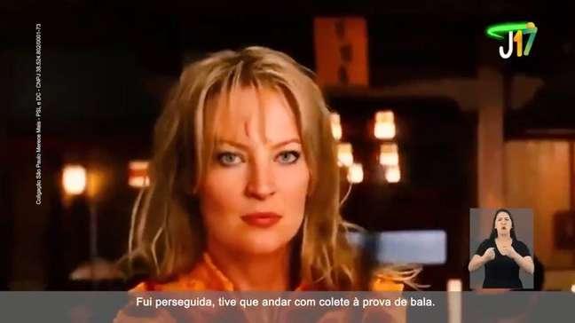 Imagem da primeira propaganda eleitoral da candidata Joice Hasselmann (PSL), cujo rosto foi inserido no corpo da personagem 'Kill Bill'.