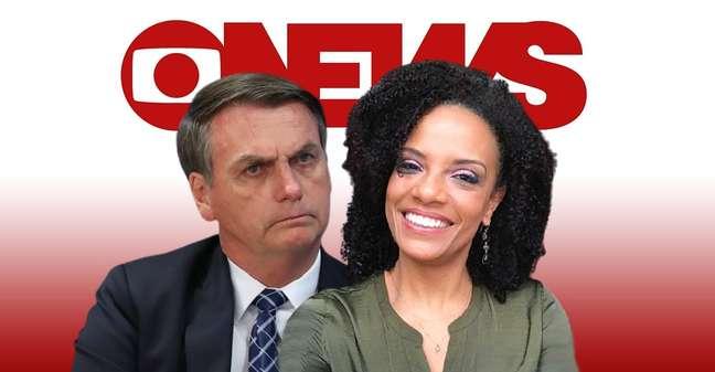 Flávia Oliveira aproveita a visibilidade no canal de notícias mais visto da televisão para contestar as pautas conservadoras de Bolsonaro
