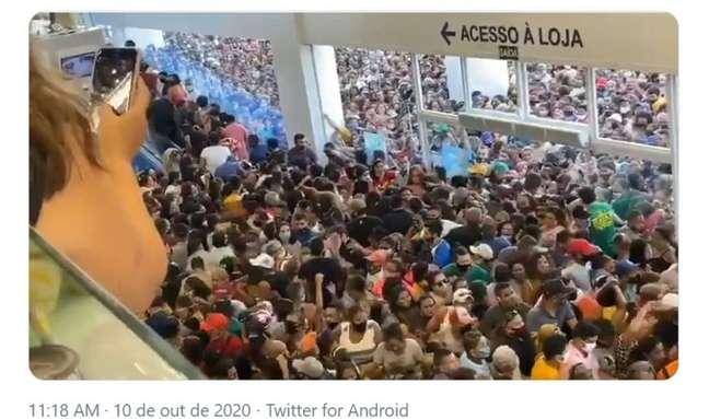 Véspera de Círio, inauguração de megaloja atrai multidão em Belém