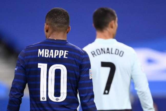 Mbappé e Cristiano Ronaldo passaram em branco (Foto: FRANCK FIFE / AFP)