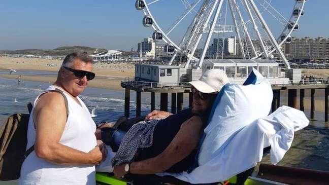Um grande número de pessoas com doenças terminais optam por ir para a praia