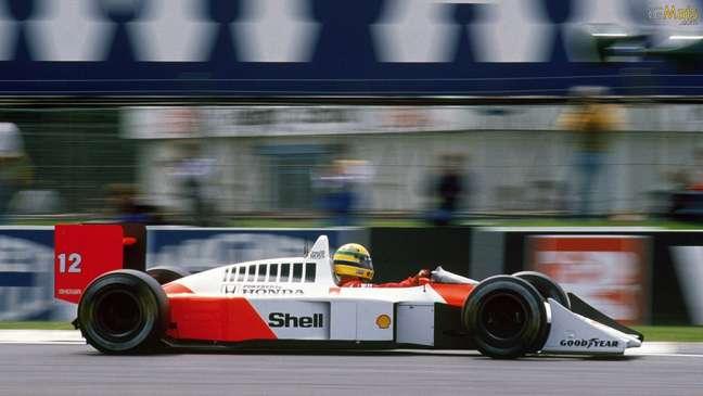 Ayrton Senna: somente quando sentou no McLaren Honda MP4/4 conseguiu disputar o título.