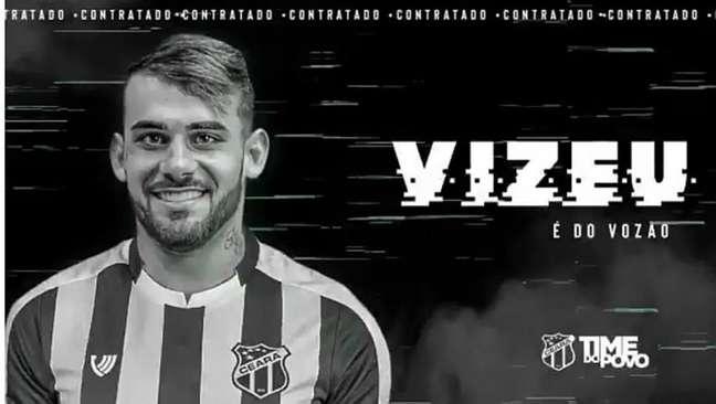 Ceará anuncia a contratação de Felipe Vizeu