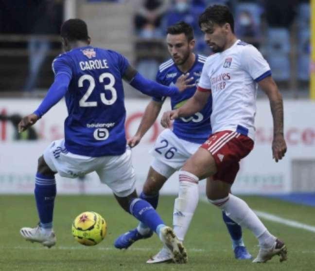 Paquetá fez sua estreia com a camisa 12 do Lyon (Foto: FREDERICK FLORIN / AFP)