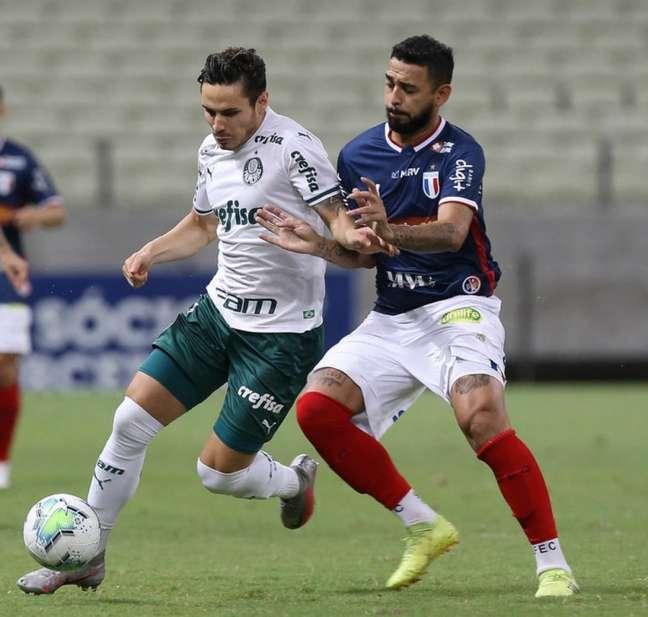 Fortaleza foi superior ao Palmeiras no primeiro tempo, o suficiente para vencer a partida no Castelão (Cesar Greco)