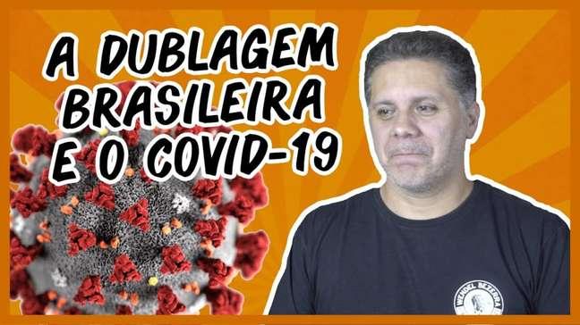 Wendel Bezerra (Goku) fala ao público em seu canal, sobre a pandemia e dublagem (Imagem: Wendel Bezerra/YouTube)