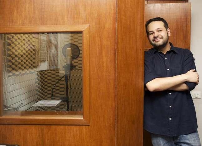 Ricardo Juarez mostra seu estúdio em casa (Imagem: Ricardo Juarez/Acervo pessoal)