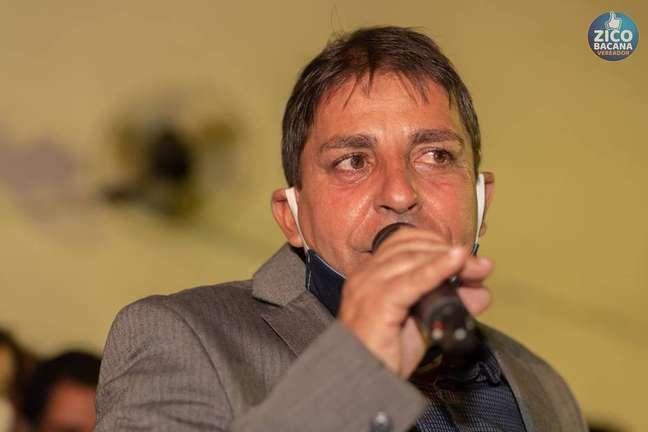 O vereador Zico Bacana, que tenta a reeleição