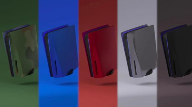 PS5, em tese, permite trocar a faceplate facilmente (Imagem: CustomizeMyPlates)