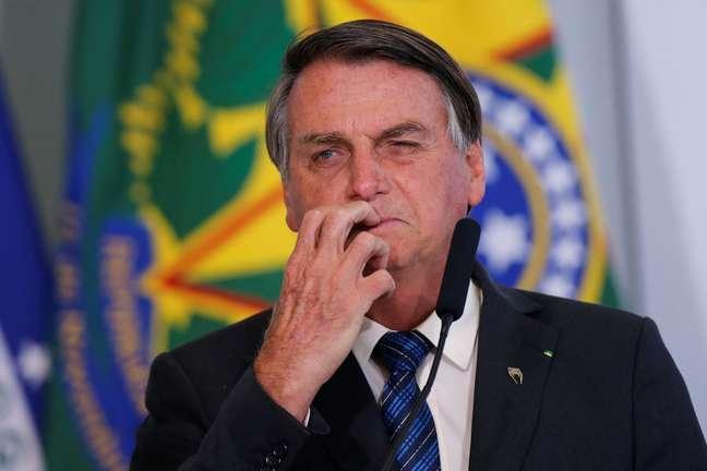 Presidente Jair Bolsonaro no Palácio do Planalto 14/10/2020 REUTERS/Adriano Machado