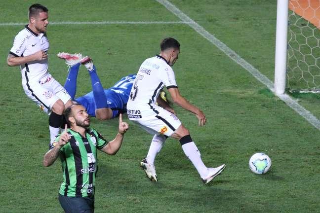 Corinthians empatou com o América-MG e foi eliminado da Copa do Brasil