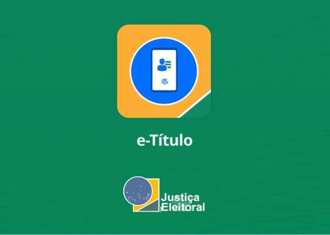 Tela inicial do aplicativo e-Título, do TSE.