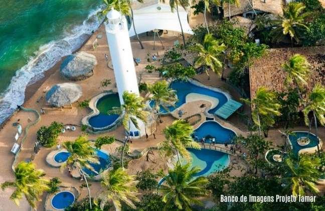 Sede do projeto Tamar localizada na Praia do Forte