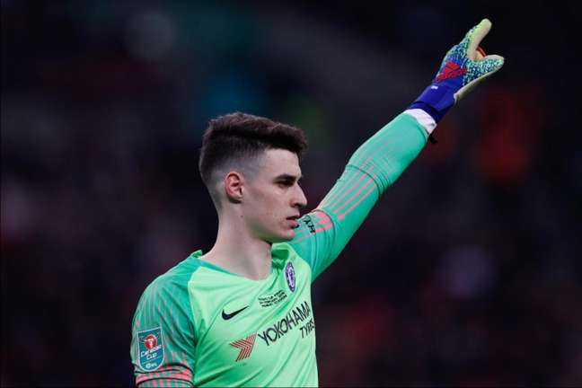 Kepa perdeu espaço no Chelsea (Foto: Adrian Dennis/AFP)